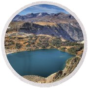 Bear Tooth Highway Lookout Round Beach Towel by Brad Scott