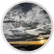 Beautiful Days End Round Beach Towel