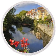 Beautiful Tuebingen In Germany Round Beach Towel