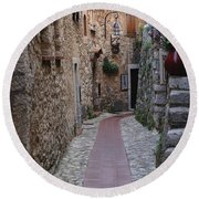Beauty Of Eze France Round Beach Towel