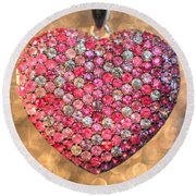 Bedazzle My Heart Round Beach Towel