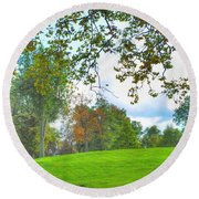 Round Beach Towel featuring the photograph Beginning Of Fall by Michael Frank Jr