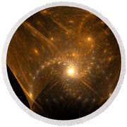 Round Beach Towel featuring the digital art Big Bang Unfolding by Richard Ortolano