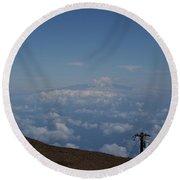 Big Island - Island Of Hawaii - View From Haleakala Maui Round Beach Towel