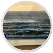Round Beach Towel featuring the photograph Big Ocean  by Eric Tressler