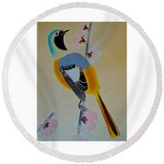 Bird Print Round Beach Towel by Julia Wilcox