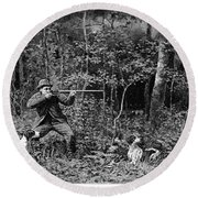 Bird Shooting, 1886 Round Beach Towel