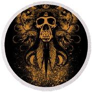 Bleed The Chimp Round Beach Towel