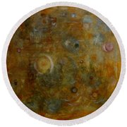 Round Beach Towel featuring the painting Bliss by Tom Roderick