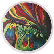 Blooming Expressions... Round Beach Towel