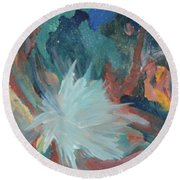 Blooming Star Round Beach Towel