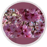 Round Beach Towel featuring the photograph Blossoms by Lydia Holly
