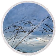 Blowing In The Wind Round Beach Towel by Tikvah's Hope