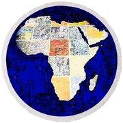 Blue Africa Round Beach Towel by Anne Mott