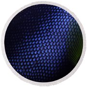 Blue And Yellow Scales Round Beach Towel