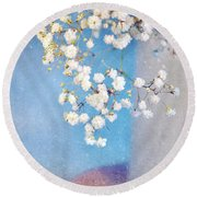 Blue Morning Round Beach Towel by Lyn Randle