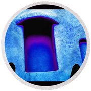 Blue Portals Round Beach Towel