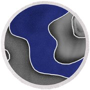 Round Beach Towel featuring the digital art Blue River by Maciek Froncisz