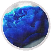 Round Beach Towel featuring the digital art Blue Rose by Debbie Portwood