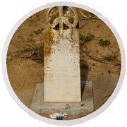 Bodega Bay Cemetery Round Beach Towel