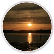 Bodega Bay Sunset II Round Beach Towel