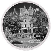 Boldt Castle 0152 Round Beach Towel