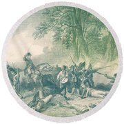 Braddocks Defeat, 1755 Round Beach Towel