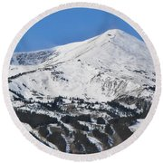 Breckenridge Peak 8 Round Beach Towel by Margaret Bobb