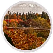 Bridge Round Beach Towel by Bill Owen