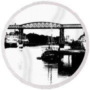 Round Beach Towel featuring the photograph Bridge On The Boyne by Charlie and Norma Brock
