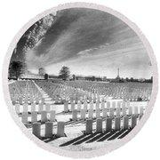British Cemetery Round Beach Towel
