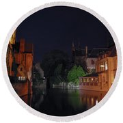 Round Beach Towel featuring the photograph Bruges by David Gleeson