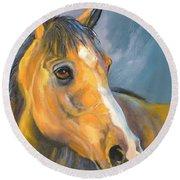 Buckskin Sport Horse Round Beach Towel