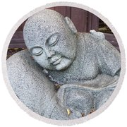 Round Beach Towel featuring the photograph Buddha by Chalet Roome-Rigdon