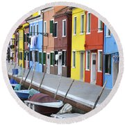 Round Beach Towel featuring the photograph Burano Italy 2 by Rebecca Margraf