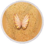 Butterfly Sea Shell Round Beach Towel