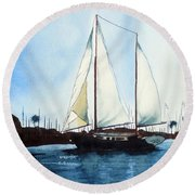 Round Beach Towel featuring the painting California Dreamin IIi by Kip DeVore