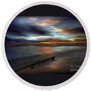 California Sky Round Beach Towel
