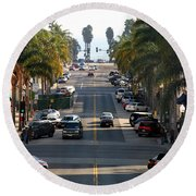 California Street Round Beach Towel