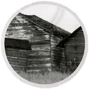 Canadian Barns Round Beach Towel by Jerry Fornarotto