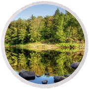 Canadian Lake Round Beach Towel