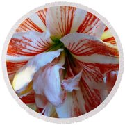 Candy Striper Round Beach Towel
