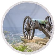 Cannon 2 Round Beach Towel by David Troxel