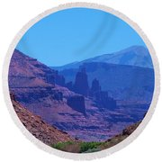 Canyon Colors Round Beach Towel by Dany Lison