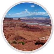 Canyonlands Round Beach Towel by Dany Lison