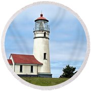 Cape Blanco Lighthouse Round Beach Towel