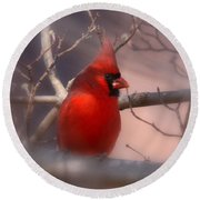 Cardinal - Unafraid Round Beach Towel