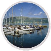 Carlingford Yacht Marina, Co Louth Round Beach Towel
