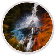 Cascade Waterfall Round Beach Towel by Mick Anderson