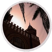 Round Beach Towel featuring the photograph Castell Dels Tres Dragons - Barcelona by Juergen Weiss